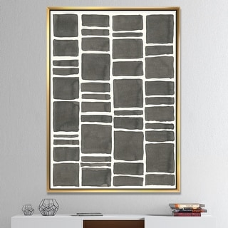 Designart 'Minimalist Graphics IV' Transitional Framed Canvas - Black