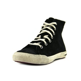 Seavees Army Issue High Women Round Toe Suede Black Sneakers