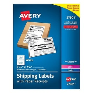 Avery Shipping Labels with Paper Receipt Bulk Pack Shipping Labels with Paper Receipt Bulk Pack