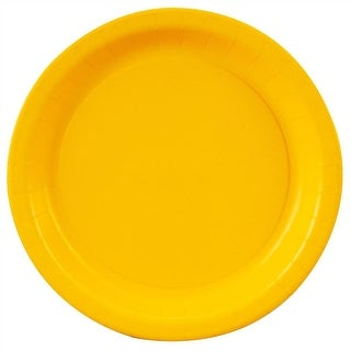 """Yellow Paper Plates - 7"""""""