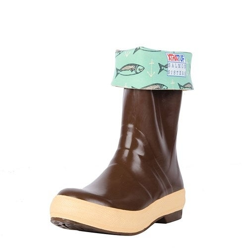 "Xtratuf Womens 12"" Salmon Sister Legacy Boots w/ Chevron Outsole - Size 11"