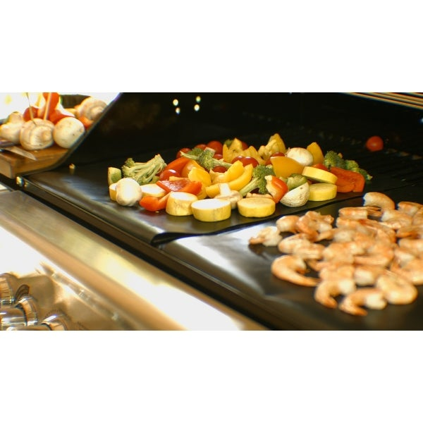 BBQ Grill & Nonstick Oven Mats (2-Pack) - Black