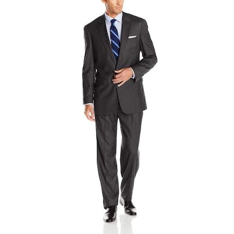 Louis Raphael Mens Suit Gray Size 44 Short Modern Tailored Fit 2 Piece