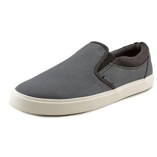 Crocs CitiLane Slip-on Sneaker Men Canvas Gray Fashion Sneakers