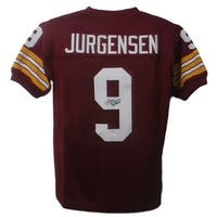 Sonny Jurgensen Autographed Washington Redskins XL Red SS Jersey HOF JSA