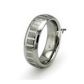 Cobalt Chrome Groove Ring Wedding Band