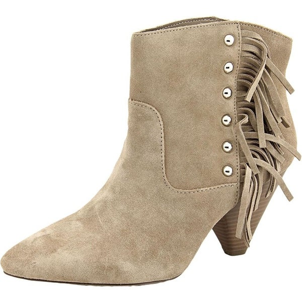 INC International Concepts Pallavi Women Pointed Toe Suede Brown Ankle Boot