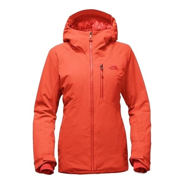 The North Face Nasturtium Orange Womens Size Small S Zip Front Coat