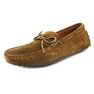 Frye Allen Tie Men Moc Toe Suede Brown Loafer