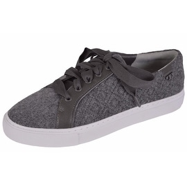 NEW Tory Burch Women's Marion Quilted Grey Felt T Logo Sneakers Shoes SIZE 7.5