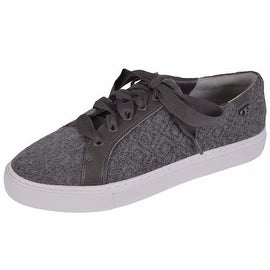 Tory Burch Women's Marion Quilted Grey Felt T Logo Sneakers Shoes SIZE 8