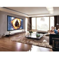 Costway 120'' Aluminum Fixed Frame 16:9 Projector Screen Velvet Matte White Home Theater