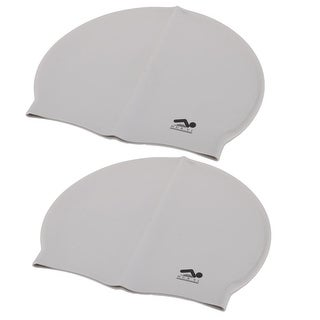 Diving Swimming Silicone Flexible Non-slip Swim Cap Hat Hair Protector 2pcs