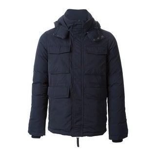 Duvetica Fitalodue Hoodie Pure Goose Down Puffer Jacket Large Navy Blue