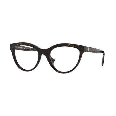 Burberry BE2311 3002 51 Dark Havana Womens Cat Eye Eyeglasses - Tortoise