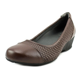 FootSmart Kimberly Women WW Open Toe Synthetic Wedge Heel