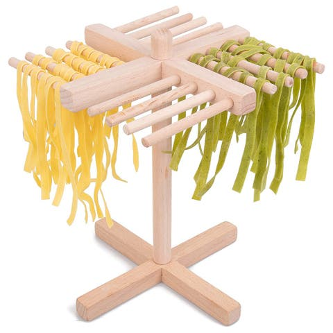 Your Choice Kitchen Pasta Drying Rack All Natural Wood Folds Flat