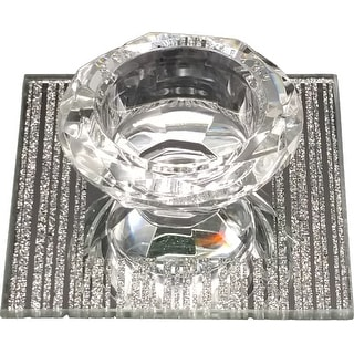 Crystal And Mirror Candle / Salt Holder