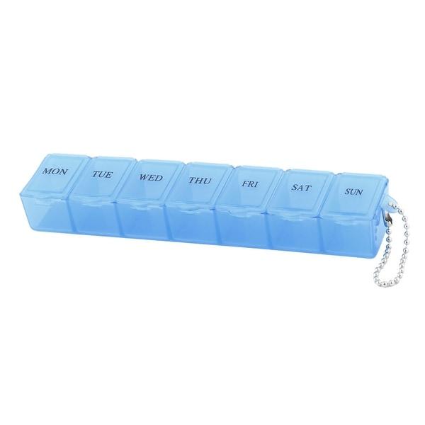 Plastic 7 Slots Drug Tablet Medicine Storage Container Travel Pill Planning Box