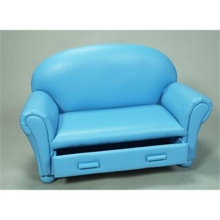 Giftmark 6700B Upholstered Couch with Draw Blue