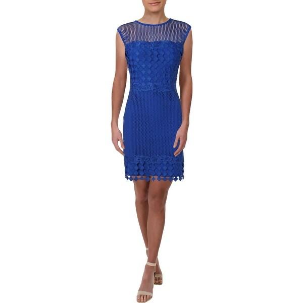 e2e3fcbf Shop Lauren Ralph Lauren Womens Party Dress Scalloped Lace ...