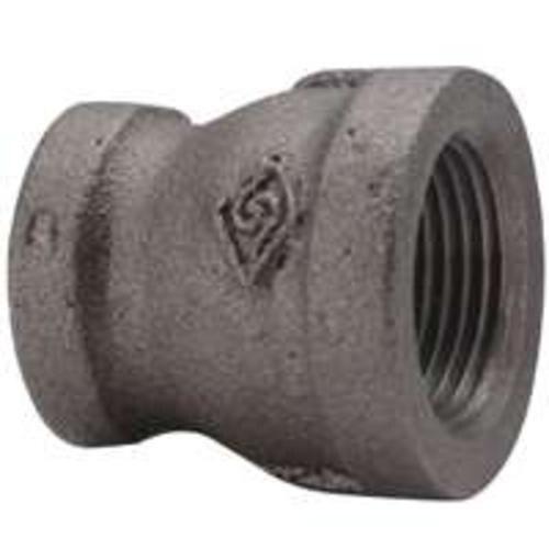 Worldwide B240 50X40 Malleable Reducing Coupling, 2x1-1/2, Black
