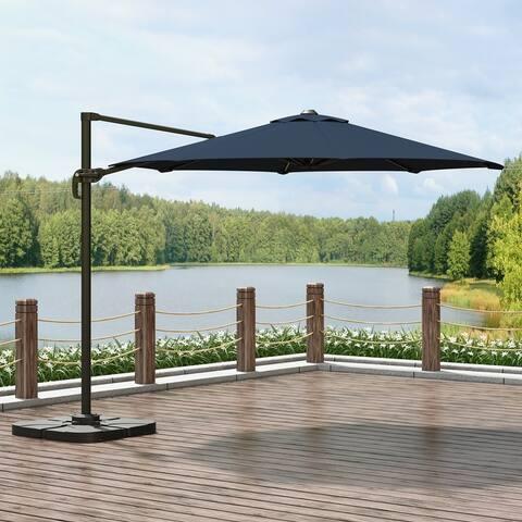 Corvus Vera 10ft Offset Hanging Canopy Outdoor Patio Umbrella