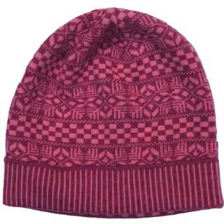 Versace VHB0605 0004 Pink Knitted Beanie Wool Hat
