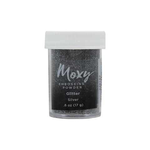 349187 amc moxy embossing powder 6oz glitter silver