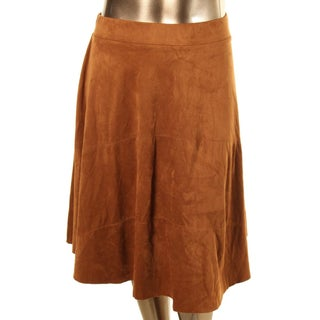 NY Collection Womens Cara A-Line Skirt Suede - XL