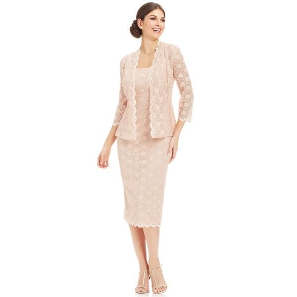 Shop Alex Evenings Petite Lace Sheath Dress And Jacket Antique