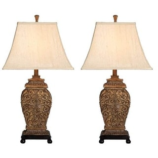 Aspire Home Accents 95727 Fallon Table Lamp (Set of 2) - brown / beige