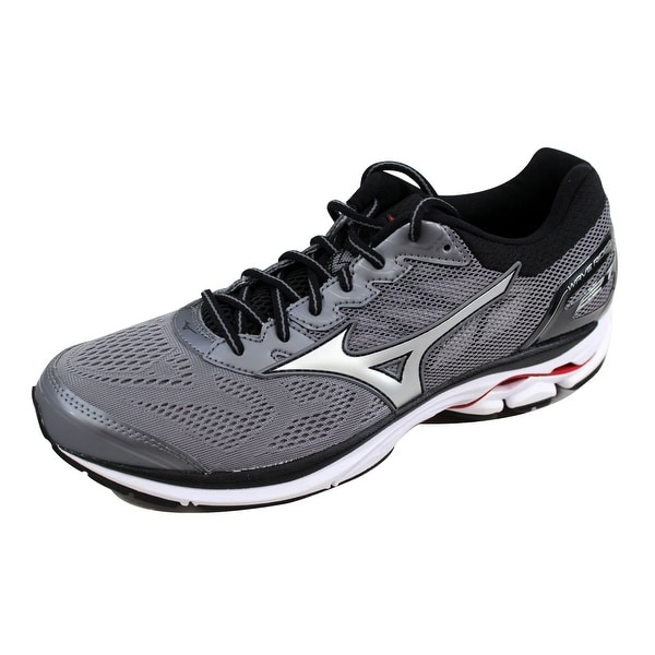 Mizuno Men's Wave Rider 21 Silver/White J1GC180303 Size 8.5