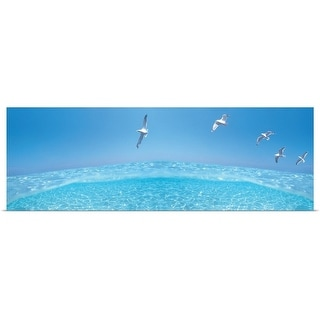 """""""Birds flying over sea"""" Poster Print"""