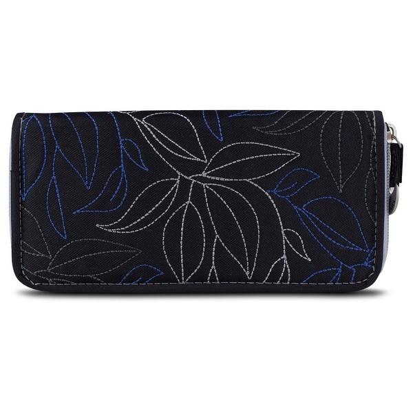Travelon SafeID Leaves Ladies RFID Wallet - Black/Grey
