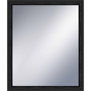 "PTM Images 5-1275 23-1/2"" x 19-1/2"" Rectangular Framed Mirror - Black - N/A"
