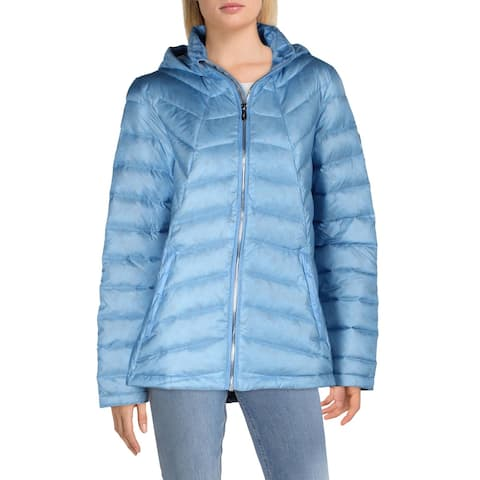 Spyder Womens Syrround Hoody Down Puffer Coat Quilted Down Fill