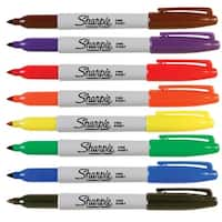 Sharpie Fine Permanent Markers, Assorted Colors, Pack of 8