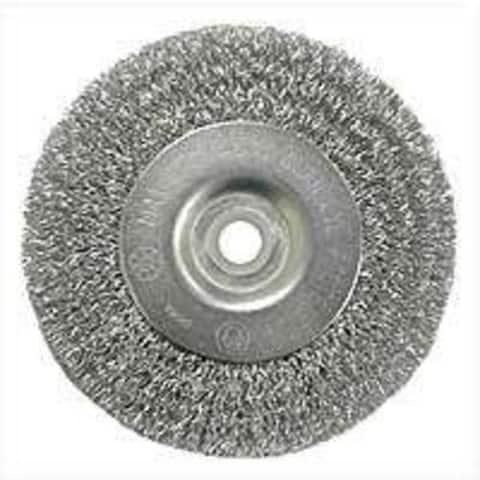 "Weiler 36402 Crimped Wire Wheel Brush w/Arbor Hole, 4"", Coarse"