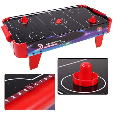 Costway 32'' Air Powered Ice Air Hockey Table Indoor Sports Game Room For Kids