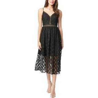 Betsey Johnson Womens Midi Dress Lace Cami