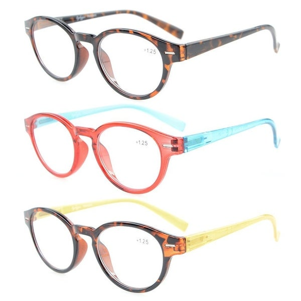 Eyekepper Womens Reading Glasses 3 Pack With comfort Spring Arms and Clear Vision +3.5