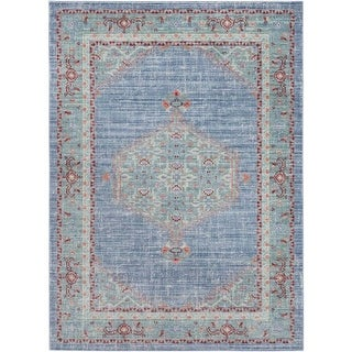 Surya GER2311-211710 Germili 3' x 8' Runner Synthetic Power Loomed Traditional A - Blue