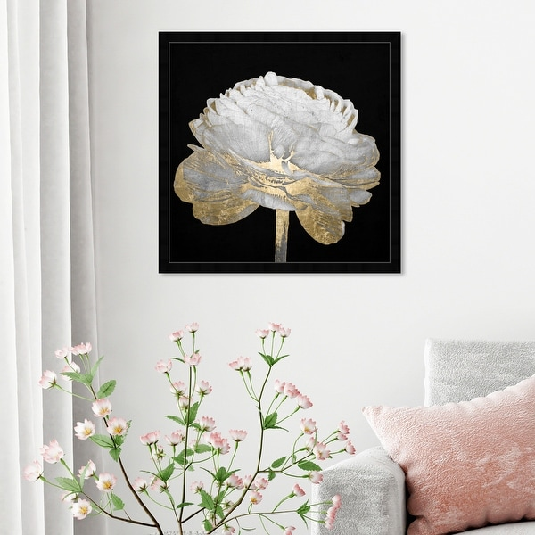 Oliver Gal 'Gold and Light Floral II' Floral and Botanical Framed Wall Art Prints Florals - Black, White. Opens flyout.
