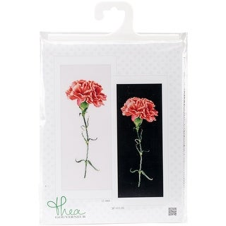 """Carnation Red On Aida Counted Cross Stitch Kit-6.5""""X16.5"""" 18 Count"""