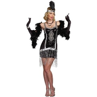 f2f3fdbb8f Shop Simply Fab 1920 s Flapper Prohibition size S Dress Gatsby Costume Dreamgirl  Womens - Free Shipping On Orders Over  45 - Overstock - 23023804