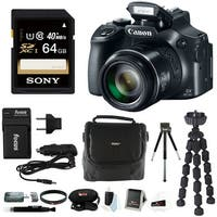 Canon PowerShot SX60  Digital Camera with 64GB Memory Card and Accessory Bundle