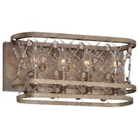 """Metropolitan N2584-272 4-Light 15.75"""" Width Bathroom Vanity Light from the Vel Catena Collection - arcadian gold - n/a"""