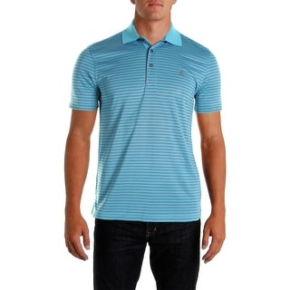 Izod Mens Striped Short Sleeves Polo Shirt - L