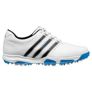 Adidas Men's Tour 360 X Running White/Core Black/Blue Golf Shoes Q44586